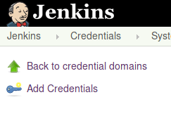 Jenkins Add Credentials