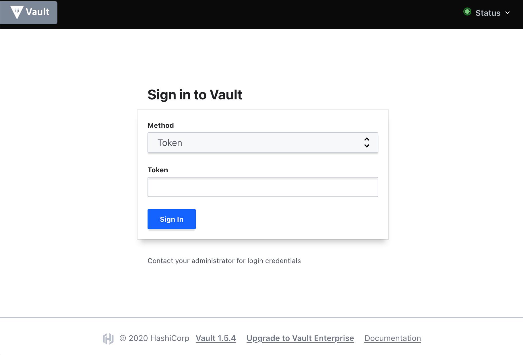 Vault UI