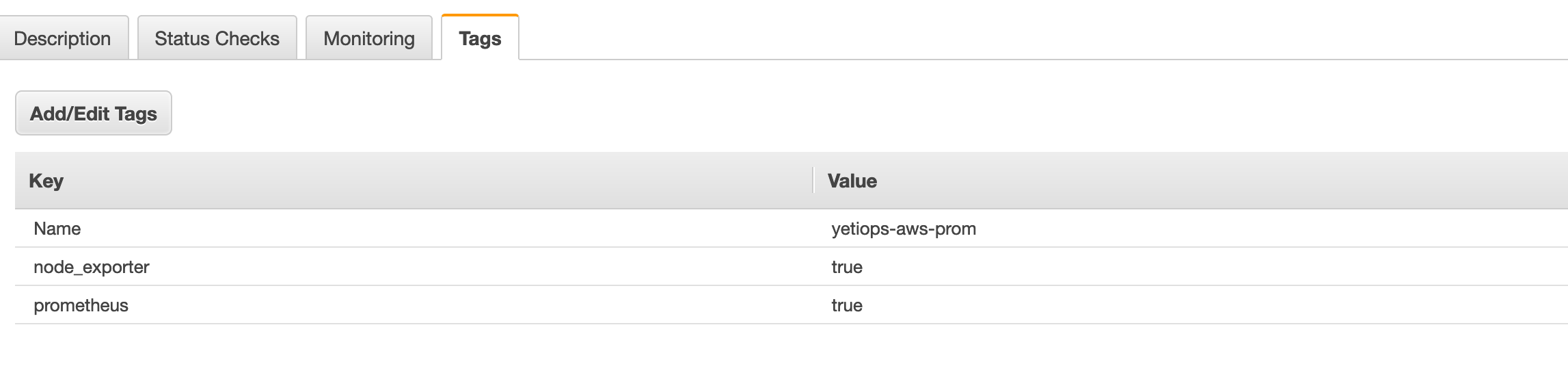 AWS Instance Tags