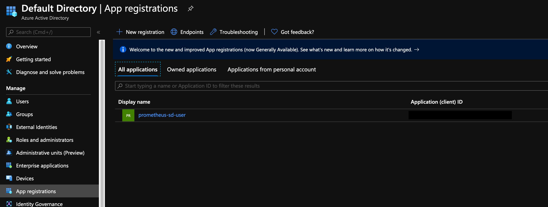 Azure Application Regstrations