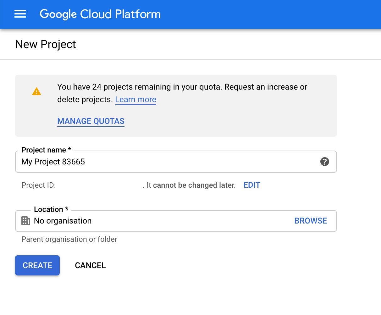 Google Cloud Platform Project