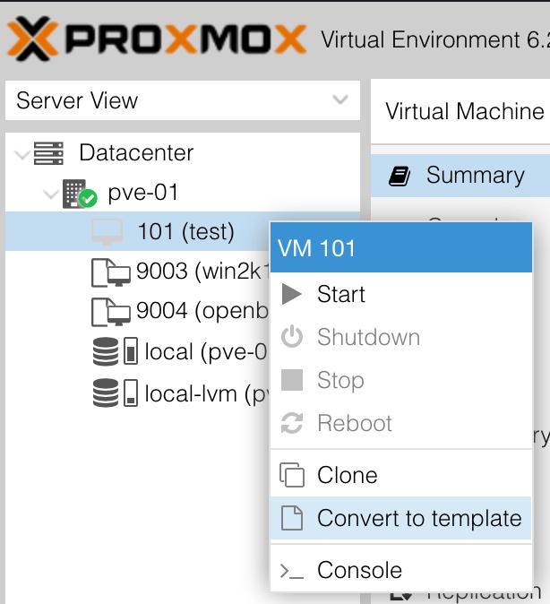 Proxmox Windows Convert to Template