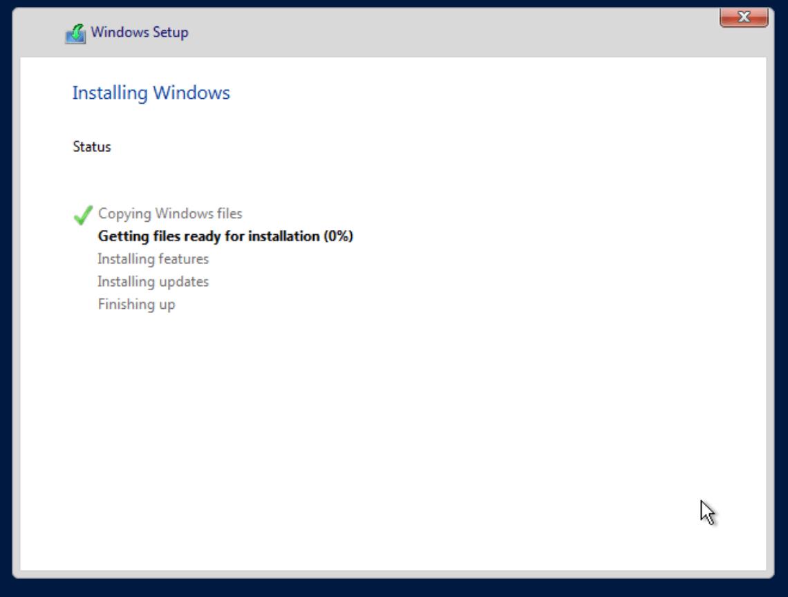 Proxmox Windows Install - Copying Files
