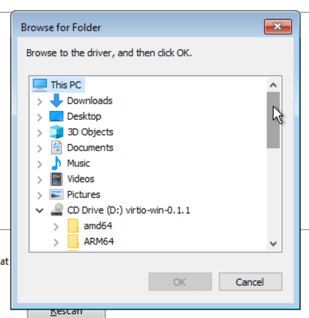 proxmox win install vm virtio cd