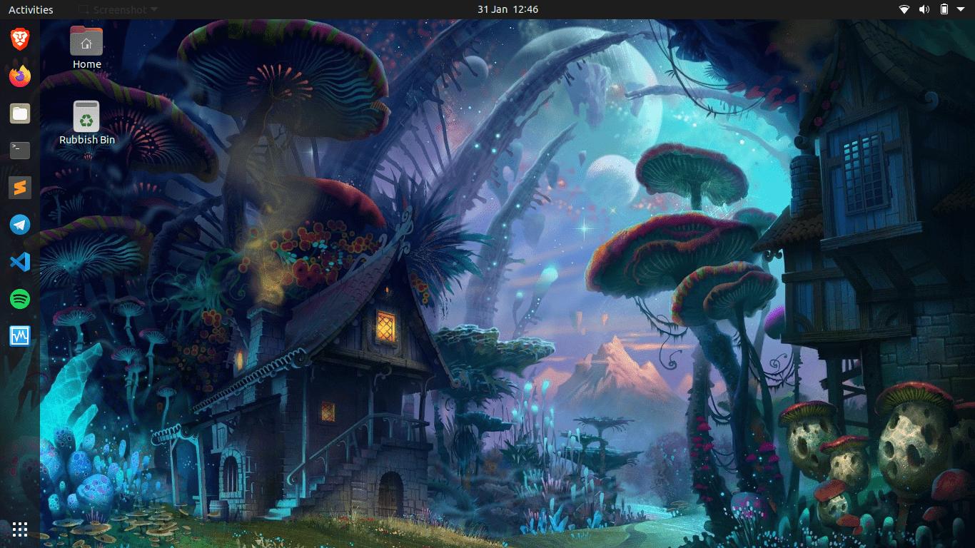 Haken Ubuntu Screenshot